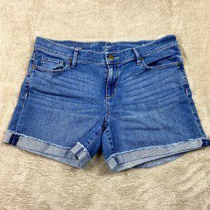 ✿❀ Loft Denim Roll Jean Shorts Women Size 10 12